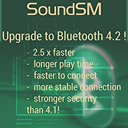 SoundSM - TRUE WIRELESS BLUETOOTH HEADPHONES with MICROPHONE - Bluetooth 4.2 - Stereo noise canceling in ear wireless bluetooth earphones with microphone iPhone Androids Bluetooth earbuds (Gold)