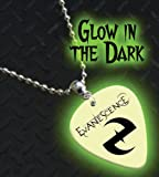 Printed Picks Company Evanescence Glow In The Dark Premium Guitar Pick Necklace/Chain