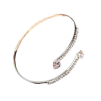 Fashion Jewelry Elegant Fashion Ladies Gold Hearts Stones Anklet