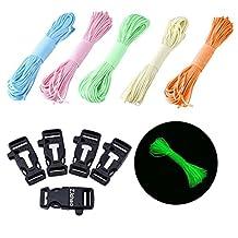 ZJchao 1/5/10/20pcs/30pcsSide Release Whistle Buckle w/ Flint Fire Starter&Striker For Paracord Bracelet