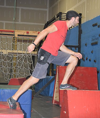 PK Tactical Parkour / Freerunning Leg Bag, Running Belt for extreme athletes, runners, gymnasts, ninjas, rock climbers and more. by Warrior Life Gear (Image #6)