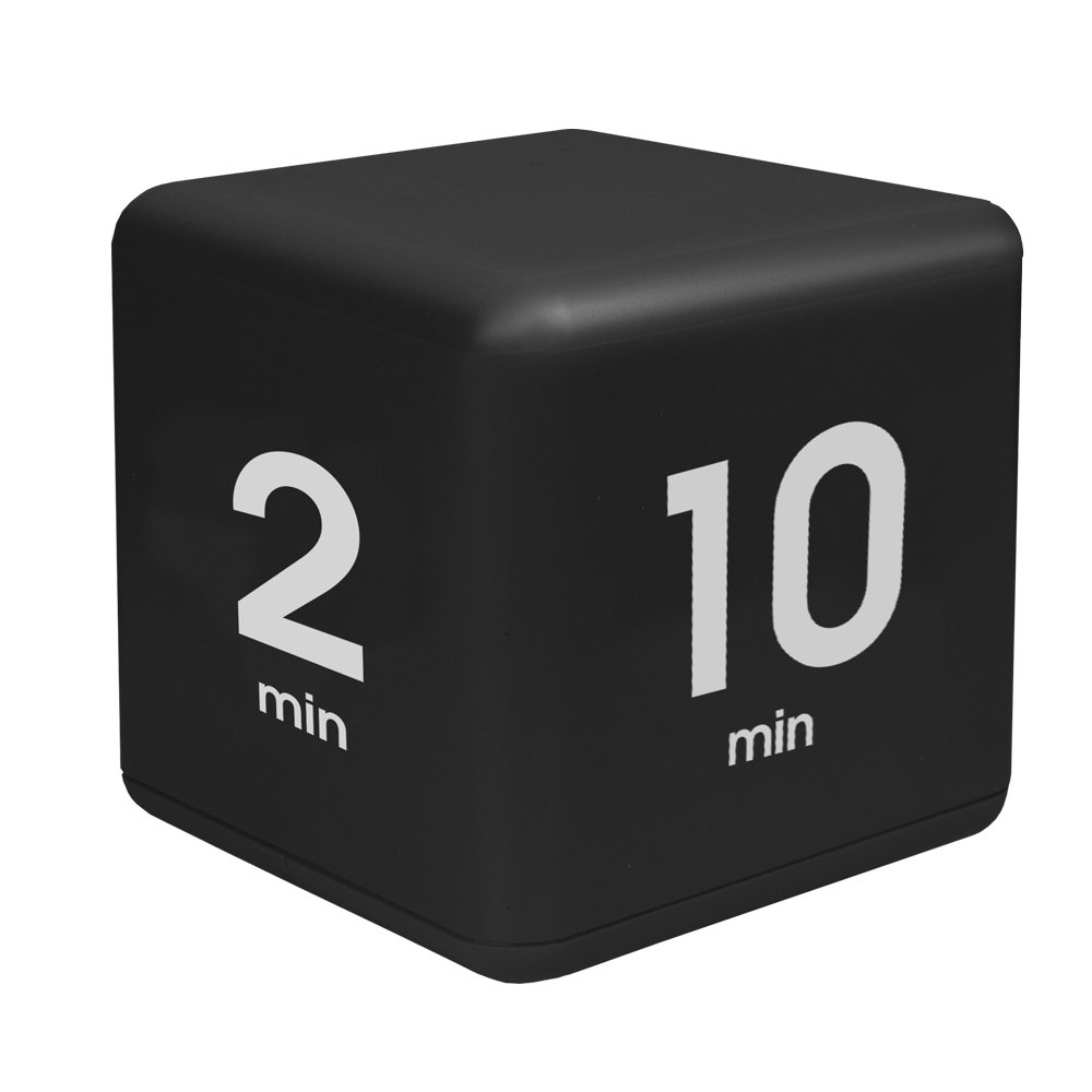 Miracle TimeCube Timer, Time Management Model, 2-10-20-45 Minute Preset Timer, Black, DF-39 Teledex
