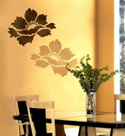 Flower Stencil Tree Peony size Med - Reusable stencils for DIY ()