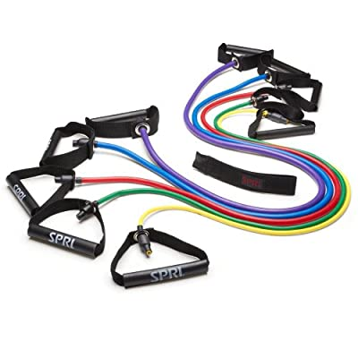 SPRI Xertube Resistance Band Exercise Cords with Door Attachment from SPRI