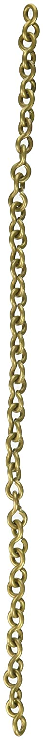 RCH Hardware Ch-20-PN Decorative Polished Nickel Solid Brass Chain for Hanging, Lighting - Light Unwelded Wire (1 Foot) RCH Supply Company