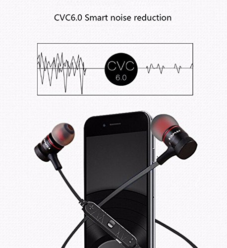 ... Sport Exercise Stereo Noise Reduction Earbuds Build-in Microphone Earphone For Apple iPhone 7 Plus S7 S6 S5 Android Smartphones (Grey): Electronics