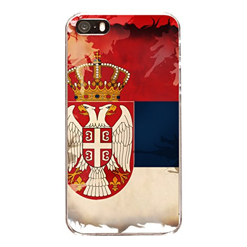 "Disagu Design Case Cover for Apple iPhone 5s hard case ""Serbien"""