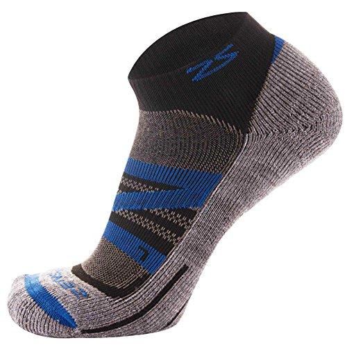 Zensah Wool Running Socks – Soft Cushioned Merino Wool, Moisture Wicking, Anti-Blister – Athletic Socks, Trail Socks, Medium, Navy