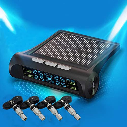 KNOSSOS per Il Sistema di monitoraggio della Pressione degli Pneumatici Steelmate Wireless a energia Solare - Nero e Interno