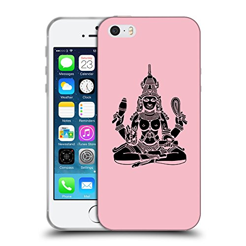 GoGoMobile Coque de Protection TPU Silicone Case pour // Q08130630 Hindou 4 Rose // Apple iPhone 5 5S 5G SE