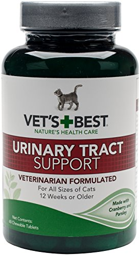 Vet's Best Feline Urinary Tract Support Cat Supplements, 60 Chewable Tablets (60 Urinary Support Tablets Tract)