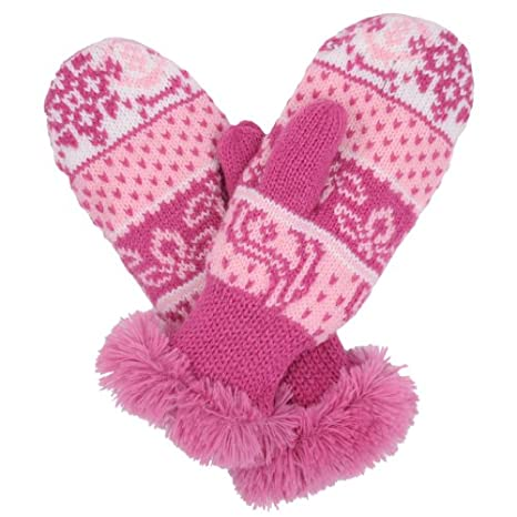 Molehill Girls Knit Mittens Infant to Big Kids