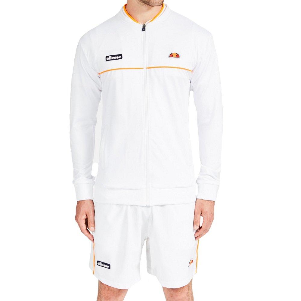ACE De la Ellesse Hombres tenis chaqueta de chándal, blanco ...