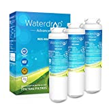 Waterdrop NSF 53&42 Certified Refrigerator Water Filter, Compatible with GE MSWF, 101820A, 101821B, 101821-B, Advanced , Pack of 3