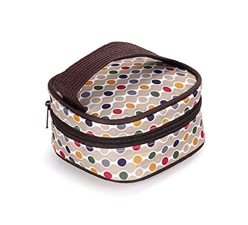 Ceiceili Set 5 kits Bolsa de Mama Para Bebe Biberon Bolso/Bolsa/Bolsillo Maternal Bebé para carro carrito biberón colchoneta comida pañal de color Negro Marrón