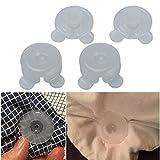 4 Pcs 3.5×3.5CM Plastic Quilt Clip For Blankets Leaf Comforter Bed Duvet,Tuscom (White)