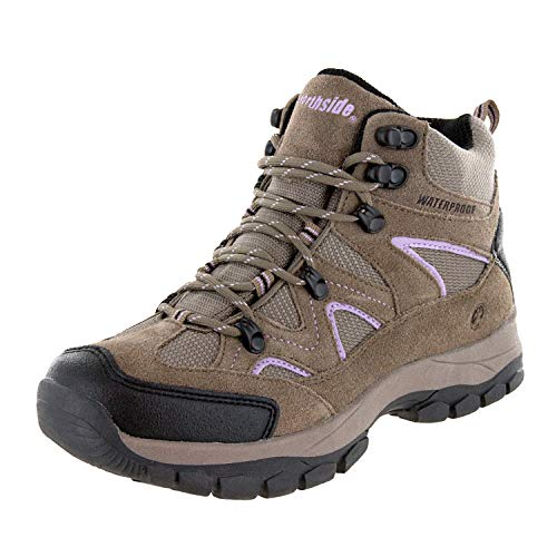 Northside Women's Snohomish-W Hiking Boot, Tan/Periwinkle, 9 M US