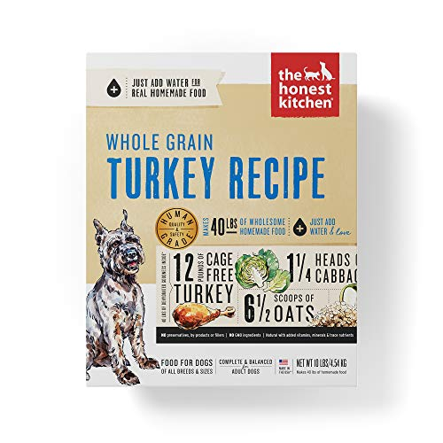 Honest Kitchen Human Grade Dehydrated Organic Grain Turkey Dog Food 10 lb - Keen