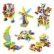 MEIGO STEM Toys - Toddlers Educational Construction Engineering Building Blocks Set Best Preschool Learning Toy Gift Kit for Kids 3 4 5 6 7 8 Year Old Boys Girls (118pcs)
