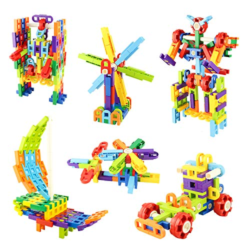 - MEIGO STEM Toys - Toddlers Educational Construction Engineering Building Blocks Set Best Preschool Learning Toy Gift Kit for Kids 3 4 5 6 7 8 Year Old Boys Girls (118pcs)