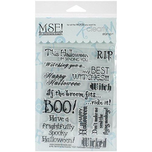 Halloween Clear Stamps - MSE Stamp Sheet, 4 by 6-Inch, Halloween, Clear