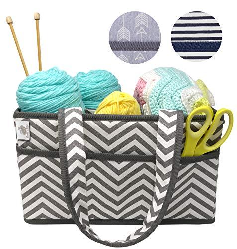 crochet sewing basket - 7
