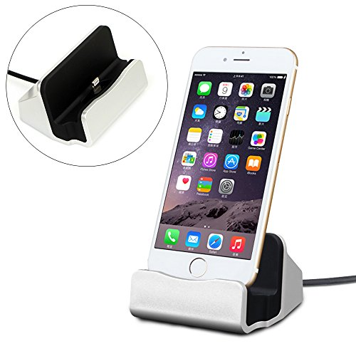 - iPhone 7 Charger Dock Station, Yeworth Lightning Charger Dock, Desktop Charging Dock Station Cradle Compatible iPhone 7 / 7 Plus iPhone 6 / 6 Plus iPhone 5 / 5S / 5C and iPod Touch 5 Compact