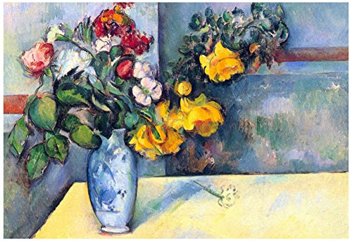 Paul Cezanne Still Life Flowers in a Vase Art Print Poster 19 x 13in with Poster Hanger