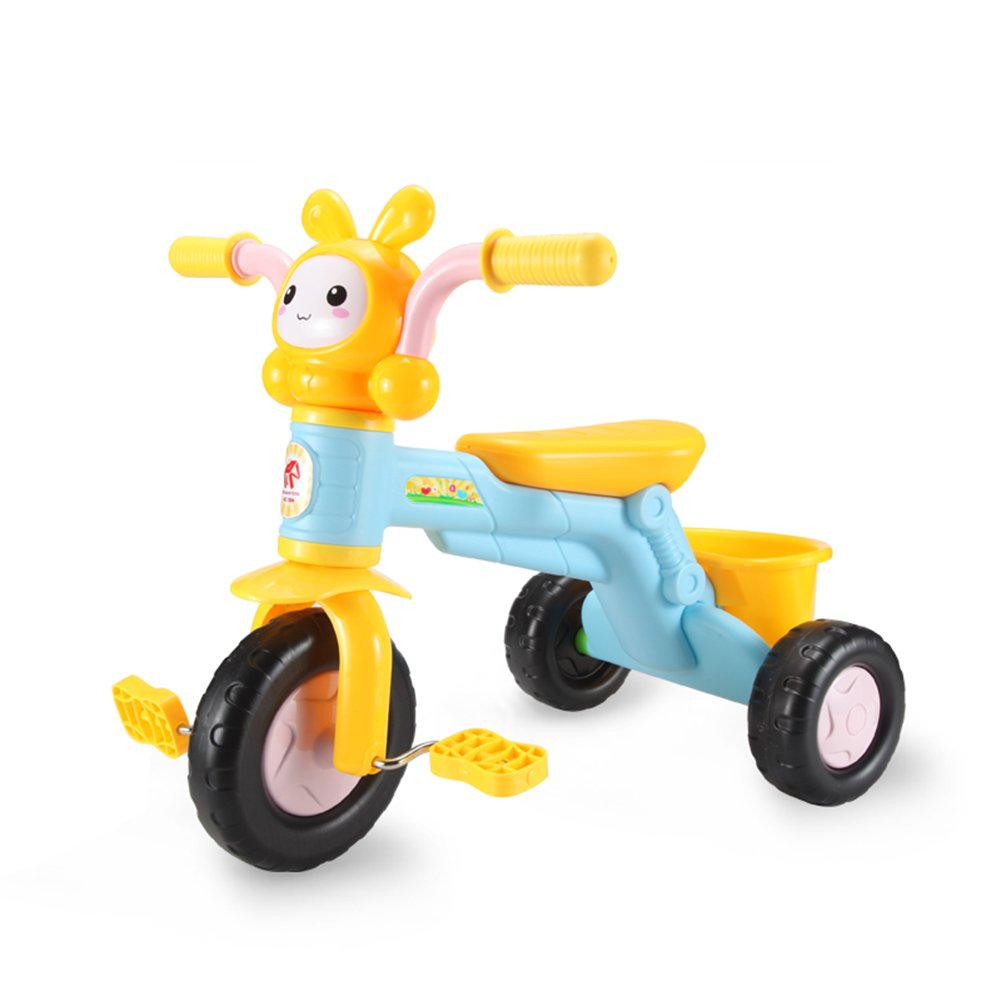 XQ 子供 軽量 EVA発泡ホイール 三輪車 1-3-5歳 子ども用自転車 ( 色 : イエロー いえろ゜ ) B07C77CWMK イエロー いえろ゜ イエロー いえろ゜