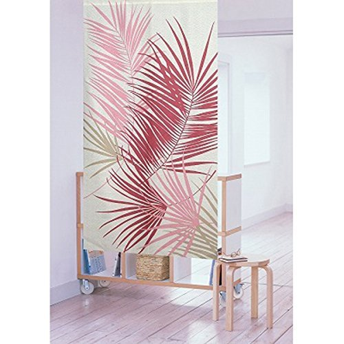 Matsumoto Shoji flame proof noren(Japanese curtain)Pink and Red Plant 11746 from Japan