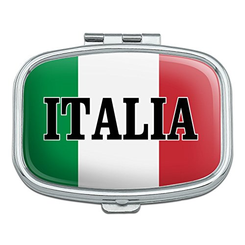 Italia Italy Italian Flag Rectangle Pill Case Trinket Gift Box