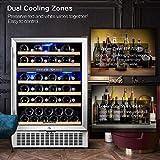 Wine Cooler Dual Zone, Aobosi 24 inch 51 Bottle