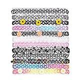 BodyJ4You 12PC Choker Necklace Set Colorful Flowers