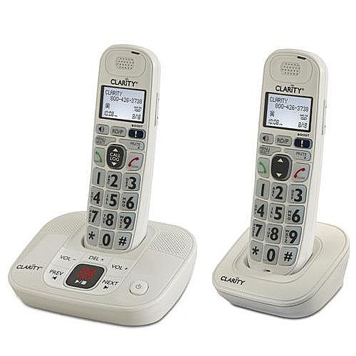 Clarity Dect 6.0 Expandable Amplified Low Vision Cordless Phones with Large Font Caller ID Display and Answering System - 2 Handset Pack (Home Phones Cordless Big Numbers)