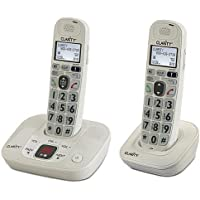 Clarity Dect 6.0 Expandable Amplified Low Vision Cordless Phones with Large Font Caller ID Display and Answering System - 2 Handset Pack
