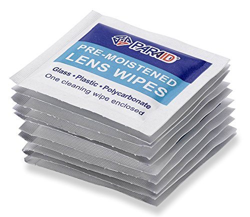 Premoistened Lens and Glass Cleaning Wipes - Portable Travel Cleaner for Glasses, Camera, Cell Phone, Smartphone, and Tablet - Disposable, Quick Drying, Streak Free - Individually Wrapped, Pack of 200 by MEDca (Image #1)