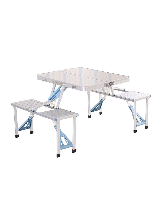 Outdoor Portable Aluminium Klapptisch und Stuhl Kit Picknick Grill Tisch Portable Desk