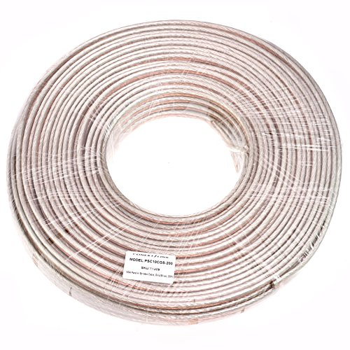 Conext Link PSC10GS-200 Parallel Gold Silver Speaker Cables Full Gauge Oxygen Free Copper Zip Wire (10 Gauge, 200 feet) by Conext Link