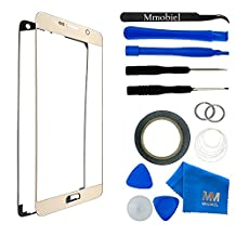 MMOBIEL Front Glass for Samsung Galaxy Note 5 N920 Series (Gold) Display Touchscreen incl Tool Kit / Pre-cut Sticker / Tweezers/ Roll of 2mm Adhesive Tape / Suction Cup / Metal Wire / cleaning cloth