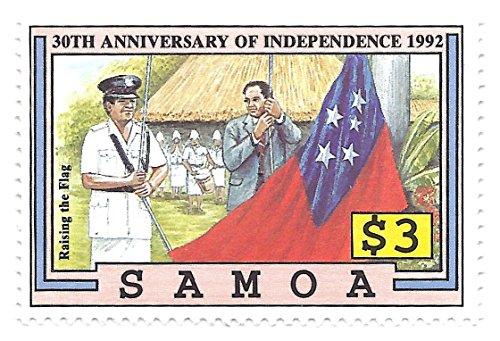 Samoa 1992 Postage Stamp $3.00 Raising Flag Independence 30th Anniversary Scott #804 MNH
