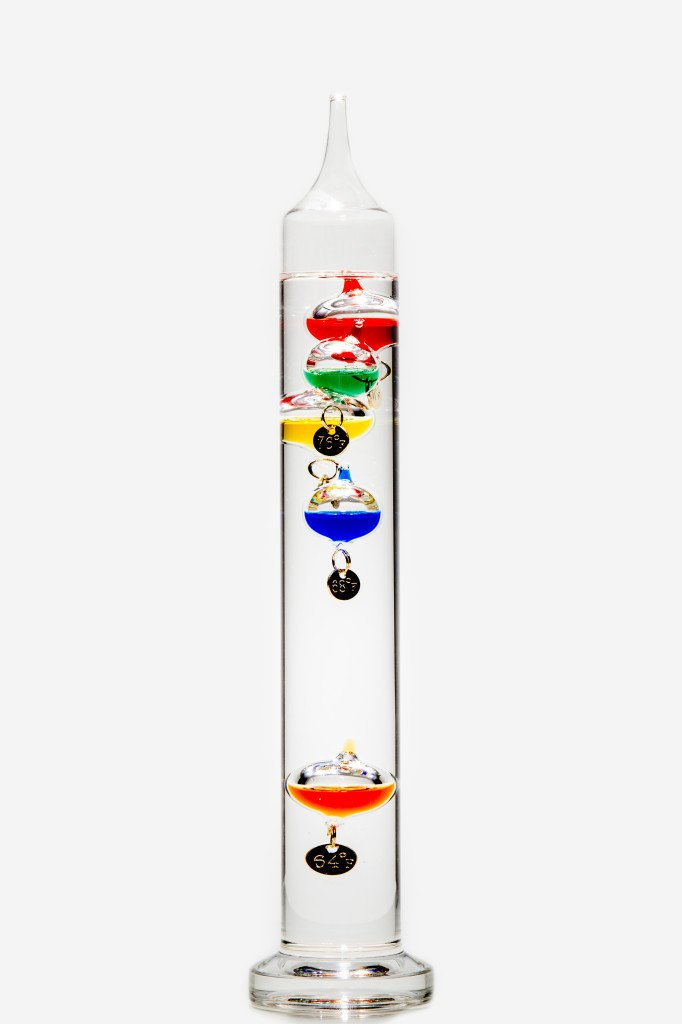 Glassic Gifts Galileo Thermometer (13'' Tall)