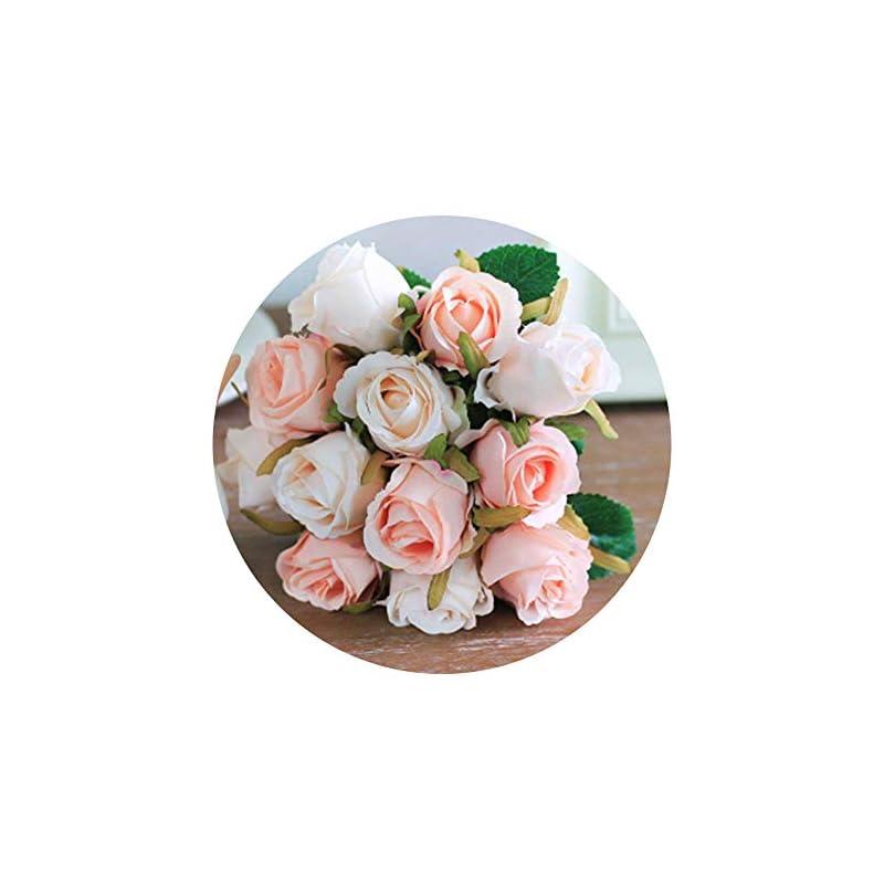 silk flower arrangements artificial rose flowers artfen simulation rose wedding bouquets fake floral rose flower silk flower hand tied bouquet pink