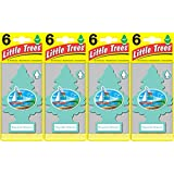 Little Trees Bayside Breeze Air Freshener, (Pack of 24)