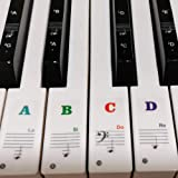 Piano Stickers for Keys, Yalloy Colorful Piano Keyboard Stickers for 88 61 54 49 Full Set Stickers Removable and…
