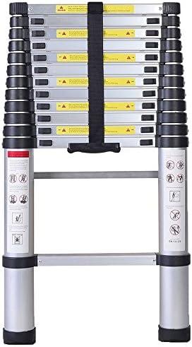 3.8 Metros Escalera Telescópica, Escalera Plegable - Carga máxima: 150 kg - Material: Aleación de aluminio: Amazon.es: Bricolaje y herramientas