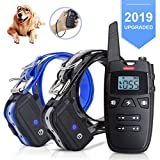 Dog Training Collar with Remote and Light, 2019 New Rechargeable E-Collar for 2
