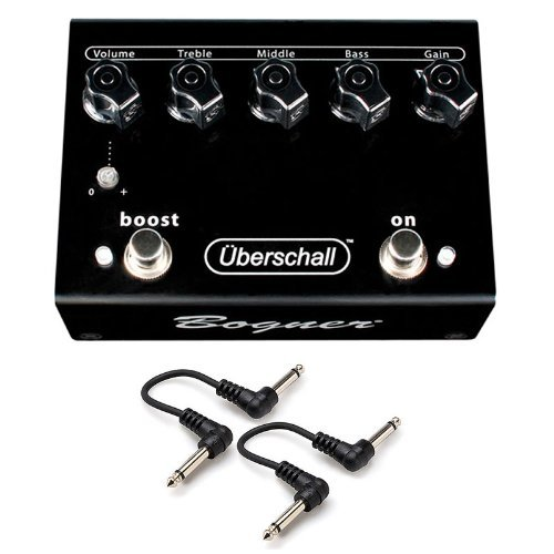 "Bogner Uberschall Overdrive OD Distortion Guitar Pedal 2 FREE 6ï¾"" Patch Cables (Uberschall Distortion Pedal)"