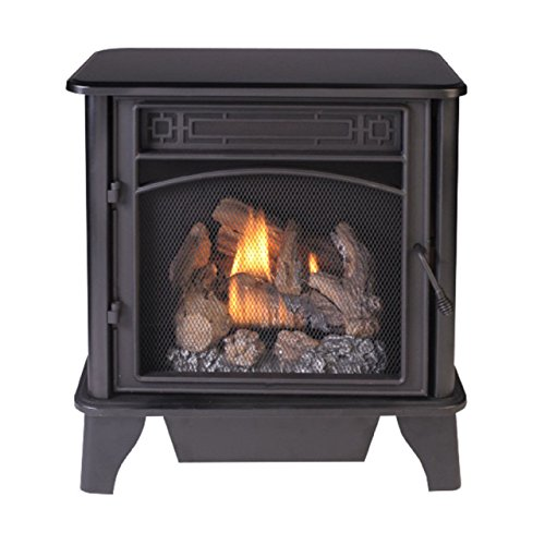 ProCom 3-Sided Dual Fuel Black – 23,000 BTU Gas Stove ()