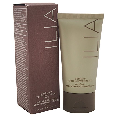 ILIA Beauty Sheer Vivid Tinted Moisturizer SPF 20, No. T2 Belle Mare, 1.7 Ounce ()
