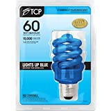 TCP 68914BLAS CFL A19 - 60 Watt Equivalent (14W) Compact Flourescent BLUE Light Bulb - Benefits Autism Now